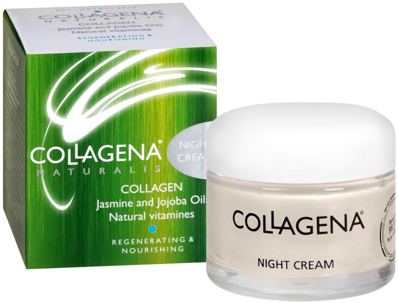 Нощен крем за лице за нормална до суха кожа - Collagena..