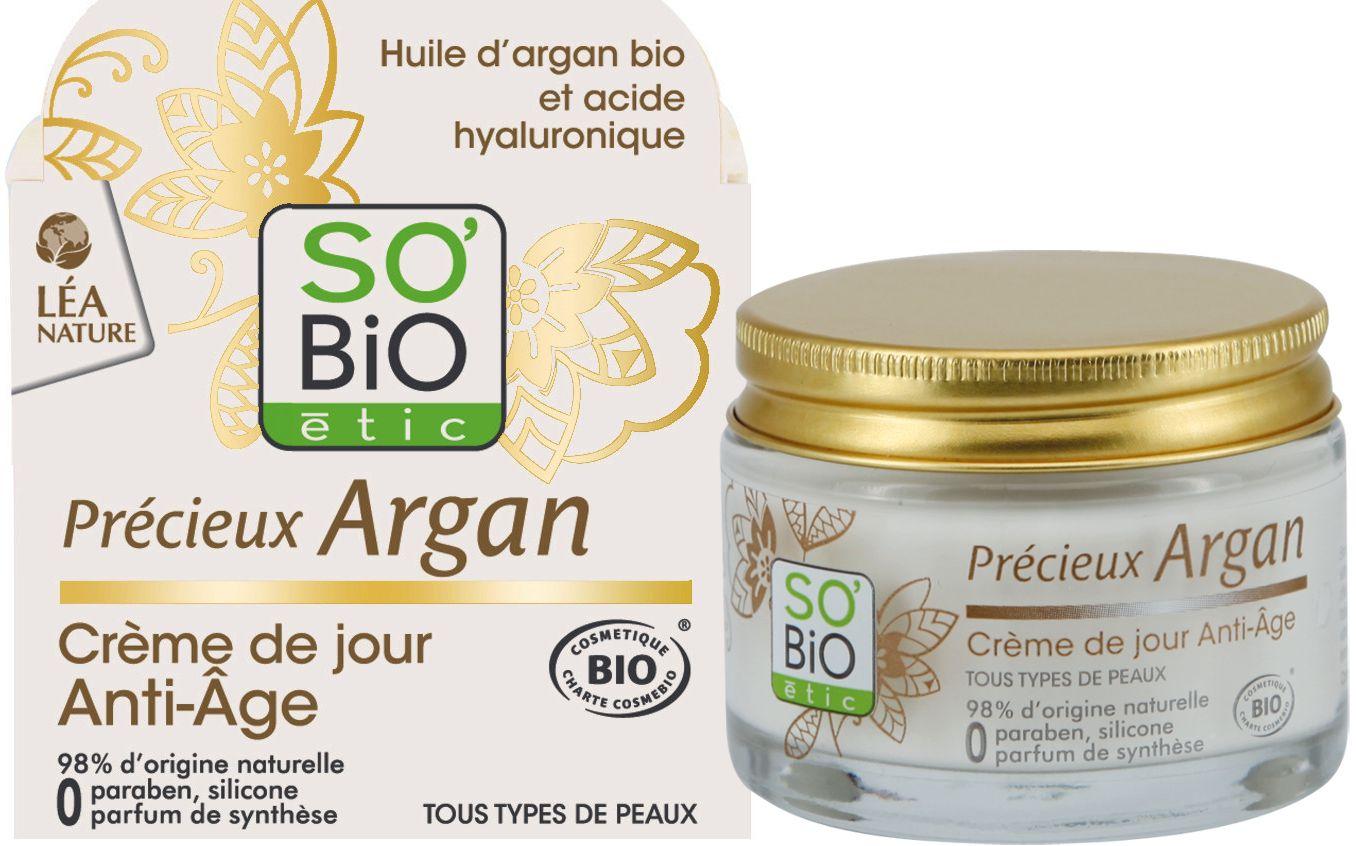 Дневен крем против бръчки - So Bio Etic Argan - store.bg