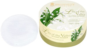 "Bronnley Lily of the Valley Dusting Powder - Ароматна пудра за тяло с копринено пухче от серията ""Lily of the Valley"" -"