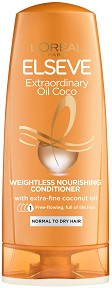Elseve Extraordinary Oil Coconut Weightless Nutrition Conditioner - Подхранващ балсам с кокосово масло за нормална до суха коса - балсам
