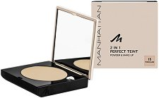 Manhattan 2 in 1 Perfect Teint Powder & Make Up - Пудра и фон дьо тен -