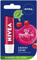 Nivea Cherry Shine Lip Balm - Балсам за устни с аромат на череша - паста за зъби