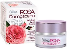 "Bilka Collection Rosa Damascena Anti-Age Face Cream - Подмладяващ крем за лице от серията ""Rosa Damascena"" -"
