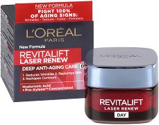 "L'Oreal Revitalift Laser Renew Deep Anti-Ageing Care Day Cream - Дневен крем против бръчки от серията ""Revitalift Laser Renew"" -"