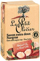 Le Petit Olivier Extra Mild Surgras Soap Shea Butter - Нежен подхранващ сапун с масло от карите - сапун