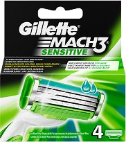 "Резервни ножчета - Mach 3 Sensitive - От серията ""Gillette Mach 3"" -"