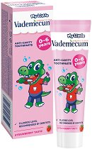 My Little Vademecum Strawberry Toothpaste - Детска паста за млечни зъби с вкус на ягода - душ гел