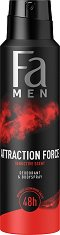 "Fa Men Attraction Force Deo & Body Spray - Дезодорант за мъже от серията ""Fa Men Attraction Force"" - дезодорант"