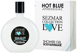 "Афродизиак душ гел за тяло и интимна зона - Hot Blue - От серията ""Sezmar Collection Love"" - душ гел"