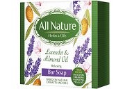 All Nature Lavender & Almond Oil Bar Soap - Успокояващ сапун за лице и тяло с лавандула и бадемово масло -