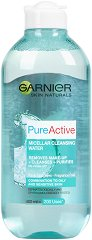 Garnier Pure Active Micellar Cleansing Water - Мицеларна вода за комбинирана към мазна и чувствителна кожа - душ гел