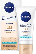 Nivea BB Cream 5 in 1 Beautifying Moisturiser - Хидратиращ BB крем за проблемна кожа - 5 в 1 -