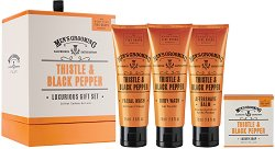 "Scottish Fine Soaps Men's Grooming Thistle & Black Pepper Luxurious Gift Set - Козметичен комплект за мъже от серията ""Men's Grooming"" -"