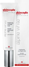 "Skincode Essentials Alpine White Brightening Overnight Mask - Избелваща нощна маска за лице от серията ""Essentials Alpine White"" -"