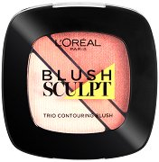 L'Oreal Infallible Blush Sculpt Trio Contouring Blush - Озаряващ и скулптуриращ руж за лице -