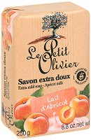 Le Petit Olivier Extra Mild Soap Apricot Milk - Нежен омекотяващ сапун с мляко от кайсия - душ гел
