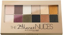 Maybelline The 24 Karat Nudes Eyeshadow Palette - Палитра сенки за очи -