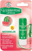 Golden Rose Lip Balm Watermelon - SPF 15 - Балсам за устни с аромат на диня -