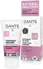 Sante Moisturising Day Cream - Хидратиращ дневен крем за лице с био масла от инка инчи и ший за суха кожа -