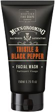 "Scottish Fine Soaps Men's Grooming Thistle & Black Pepper - Измиващ гел за лице за мъже от серията ""Men's Grooming"" - паста за зъби"