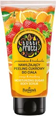 "Farmona Tutti Frutti Orange & Strawberry Moisturizing Sugar Bodu Scrub - Захарен скраб за тяло от серията ""Tutti Frutti Orange & Strawberry"" -"