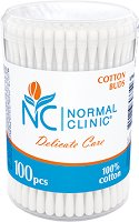 Normal Clinic Delicate Care Cotton Buds - Клечки за уши в кутия от 100 ÷ 300 броя -