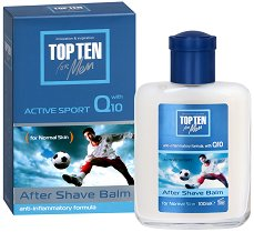 Top Ten Active Sport Q10 After Shave Balm - Балсам за след бръснене за нормална кожа -