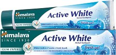 Himalaya Active White Fresh Gel Herbal Toothpaste - Избелваща гел паста за зъби -