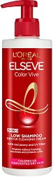 Elseve Color Vive Low Shampoo 3 in 1 Cleansing Cream - Шампоан без сулфати за боядисана коса -