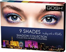 Gosh 9 Shades to Play with in Vegas - Палитра с 9 цвята сенки за очи -
