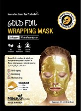 MBeauty Gold Foil Wrapping Mask - Маска за лице против бръчки със златно фолио -
