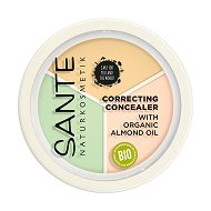 Sante Correcting Concealer Cream Powder - Трицветен коректор за лице -