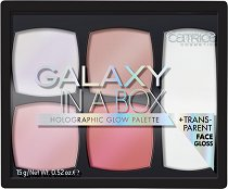 Catrice Galaxy In A Box Holographic Glow Palette - Холограмна палитра с хайлайтъри за лице -