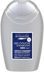 Byphasse Men Groovy Paradise 2 in 1 Shower Gel and Shampoo - Мъжки душ гел за коса и тяло -