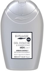 Byphasse Men Urban Swing 2 in 1 Shower Gel and Shampoo - Мъжки душ гел за коса и тяло -