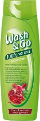 Wash & Go Shampoo With Pomegranate Extract - Шампоан за обем за боядисана коса с екстракт от нар -