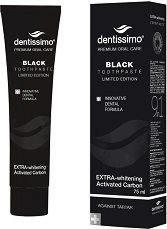 Dentissimo Extra Withening Black Toothpaste - Избелваща паста за зъби с активен въглен - паста за зъби