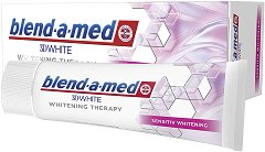 Blend-a-med 3D White Whitening Therapy Sensitive - Избелваща паста за чувствителни зъби -