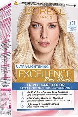 L'Oreal Excellence Pure Blonde Ultra-Lightening - Изрусител за коса - дезодорант